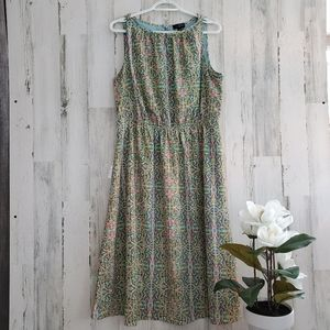 The Limited Teal Gathered Dress